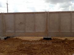 Панель ограды, забор бетонный, цокольная панель