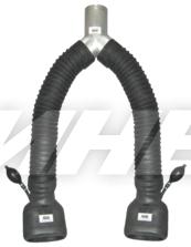 Y-адаптер для двух труб с двумя овальными