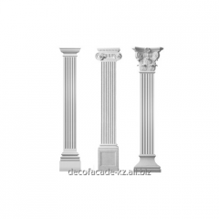 Pilasters are rectangular, semicircular
