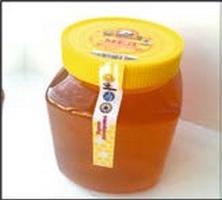 The PET white honey - the Square bank 1,5l