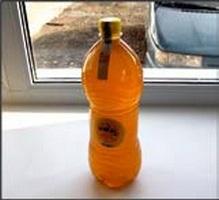White honey Bottle plastic 1,5l