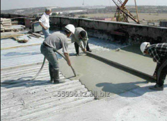 Liquid polysterene concrete for warming of a roof