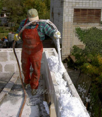 Утеплители наружных стен  (полистиролбетон)
