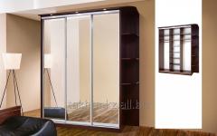 Шкаф-купе «Зета» 3х дверый 1,8 с зеркалом
