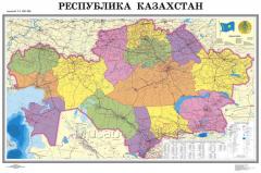 The Republic of Kazakhstan card is political