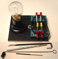 The device for experiments in chemistry with