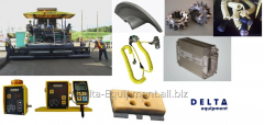 Spare parts for asphalt spreaders