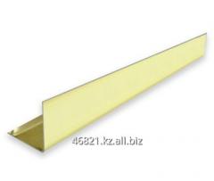 Gold aluminum shape the L wide