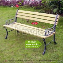 Садовая скамейка со спинкой чугунная 12974
