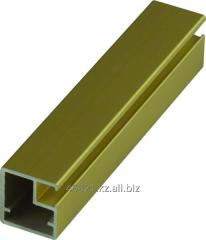 Profile aluminum gold Z narrow