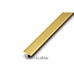 Aluminum shape of gold T wide