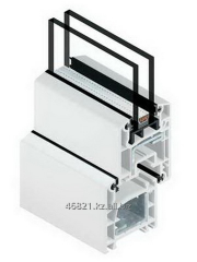 Profile white shutters of door Zb ST 6400 of the