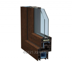Brown profile of a shutter of door Tb of the