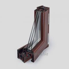 Profile impost STARTEC series T 3-chamber mahogany