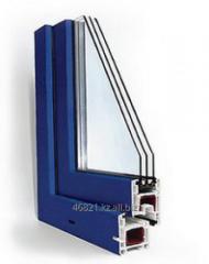 Profile square 60*60 STARTEC series 3-chamber blue