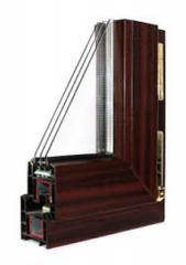 Shtapik on a double-glazed window (24 mm) mahogany