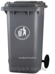 Бак мусорный 120 литров Черный