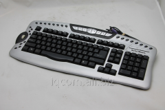 PS/2 Turbo-Matrix keyboard black wire RU/EN/KK