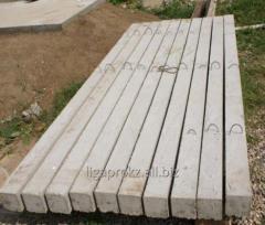 Столб для металлических ограждений железобето