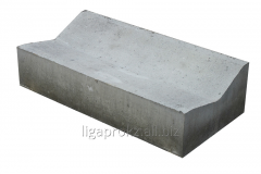 Blocks concrete for drainage constructions on