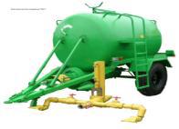 Watering hook-on barrel 3WP-2500, Equipment