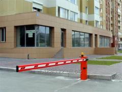 Шлагбаум для контроля доступа