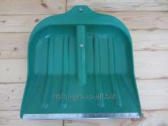 Лопата пластмассовая №8, 390 х 490 с алюминиевой черной V ручкой