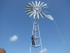 Wind turbines (wind-driven generators) for rising