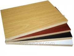 Plate the wood-fiber laminated DVP