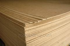 Production wood chipboard of a wet way