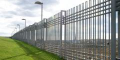 Забор - ограждение металлический