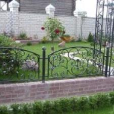 The small fence is decorative