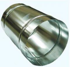 Круглый воздуховод изделия из оцинкованной стали 0,5мм