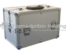 Suitcases laying for the emergency medical care of