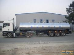 Tankers for food liquids