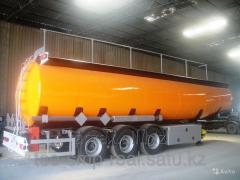 Tanker for transportation of fuels and lubricants