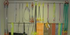 Slings are rope, chain, textile