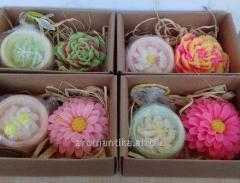Подарочный набор мыло цветок + арома гейзер