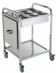 The cart for spices and sauces with 9yu round