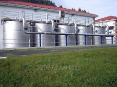 The water purification filter with granular