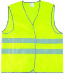 The vest is alarm lime