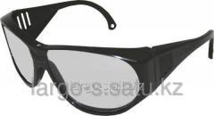 Очки защитные прозрачные черная оправа