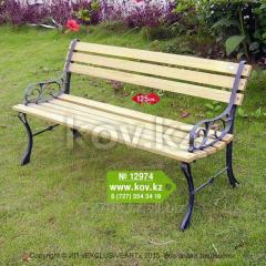 Садовая скамейка со спинкой 12974  125 см