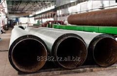 The pipes heatisolated with a galvanized