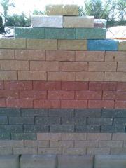 Brick concrete wall 250kh125kh88mm