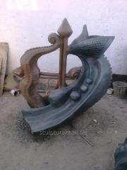 Sculpture from concrete to order