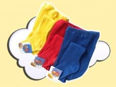 Children's tights from a cotton yarn. Bright,