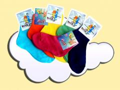 Children's socks from a cotton yarn. All