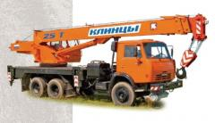 Cranes on the automobile chassis, truck cranes,