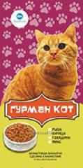 Dry cat food AQUA Korm GOURMET CAT